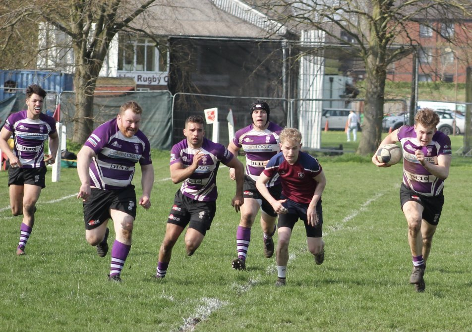 Toby Butler leads a Wheatley attack during their 41-22 victory over Bletchley in the BB&O Premier