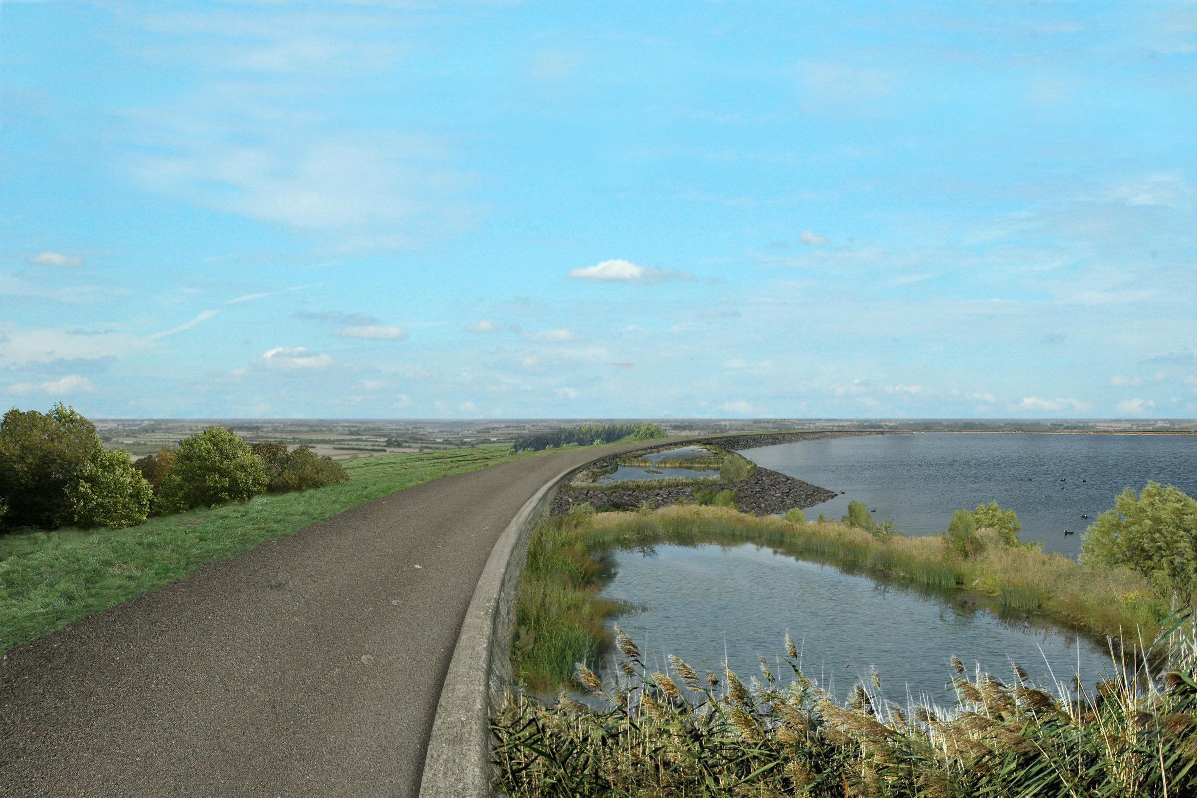 Thames Water Abingdon reservoir. submitted 2006.Artist Impression.