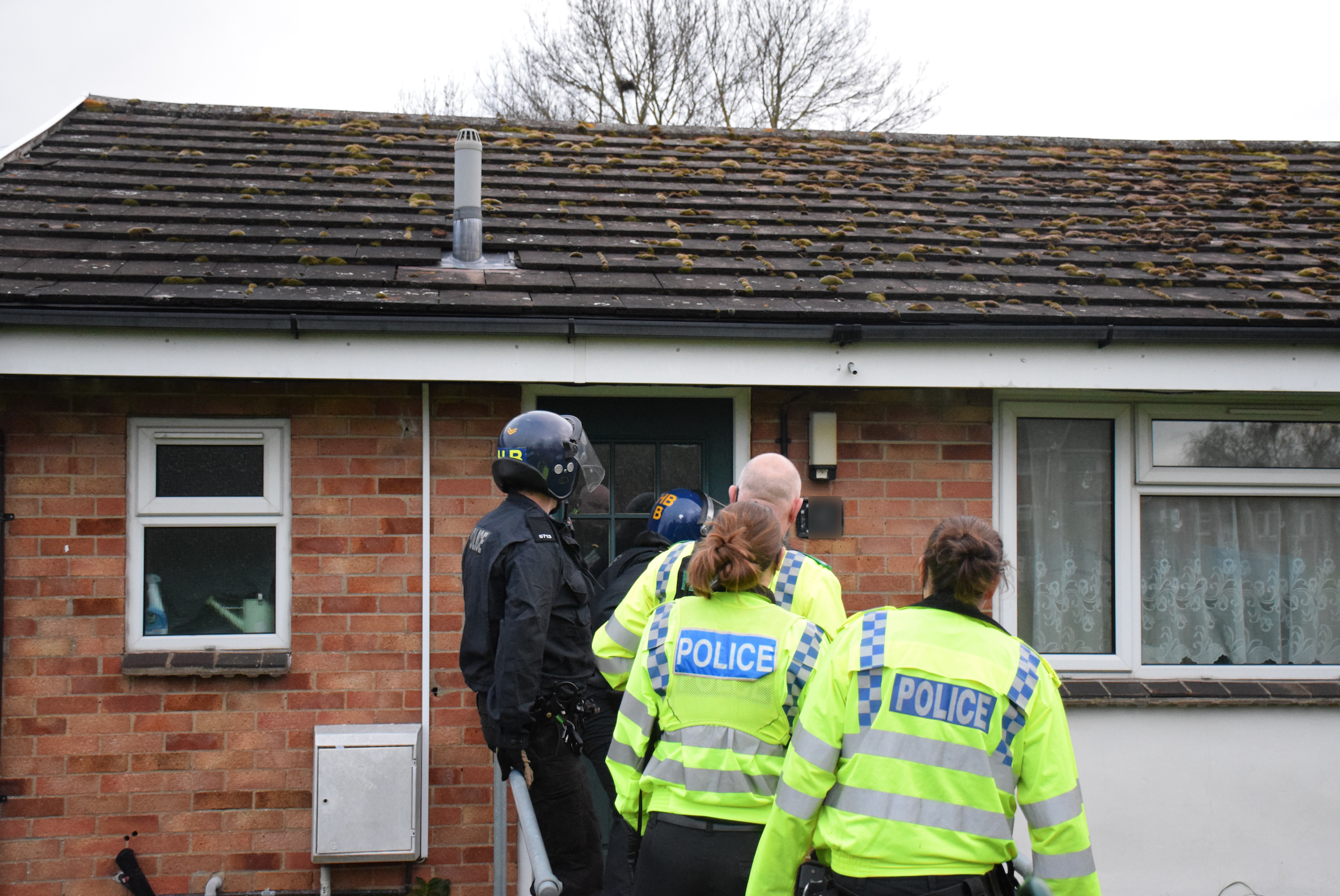 One of the police raids today. Picture: Thames Valley Police