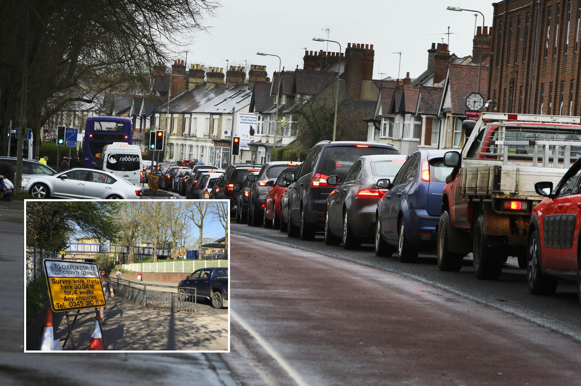 County council signs have gone up warning drivers roadworks will take place on Botley Road. Pic Tom Williams