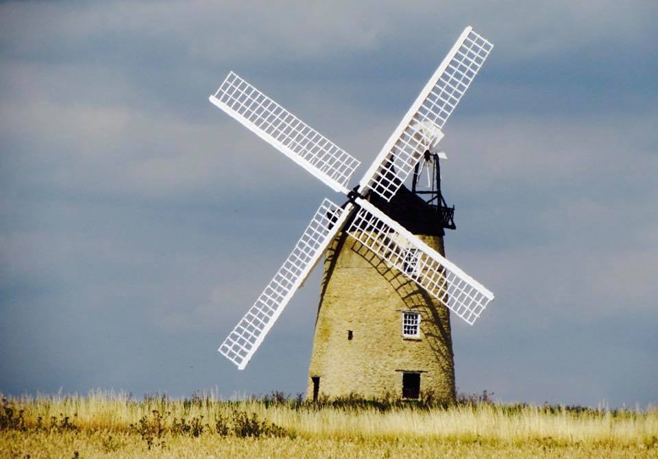 The four sails of the refurbished windmill at Great Hazeley Picture: Becca Collacott