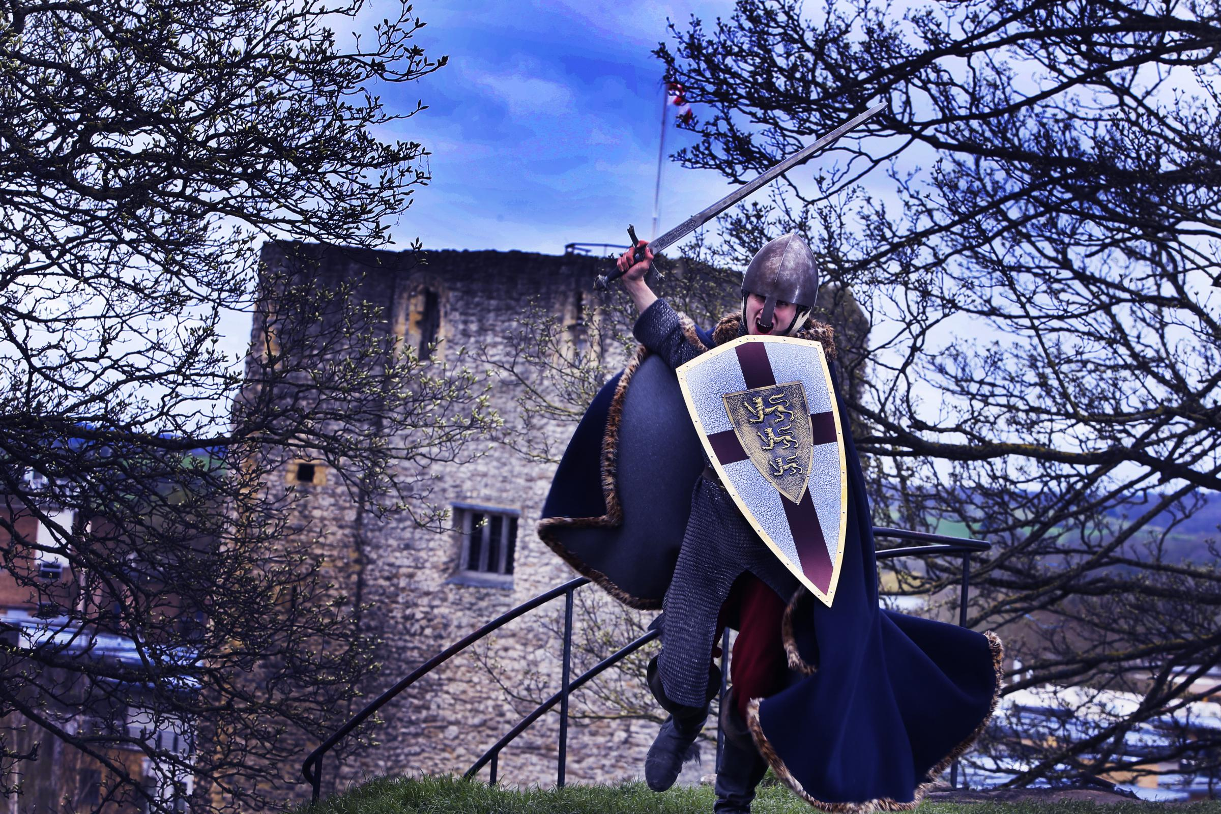 Tour Guide Robin Dando pictured in front of the St George tower at the Oxford Castle & Prison (Picture by Ed Nix)