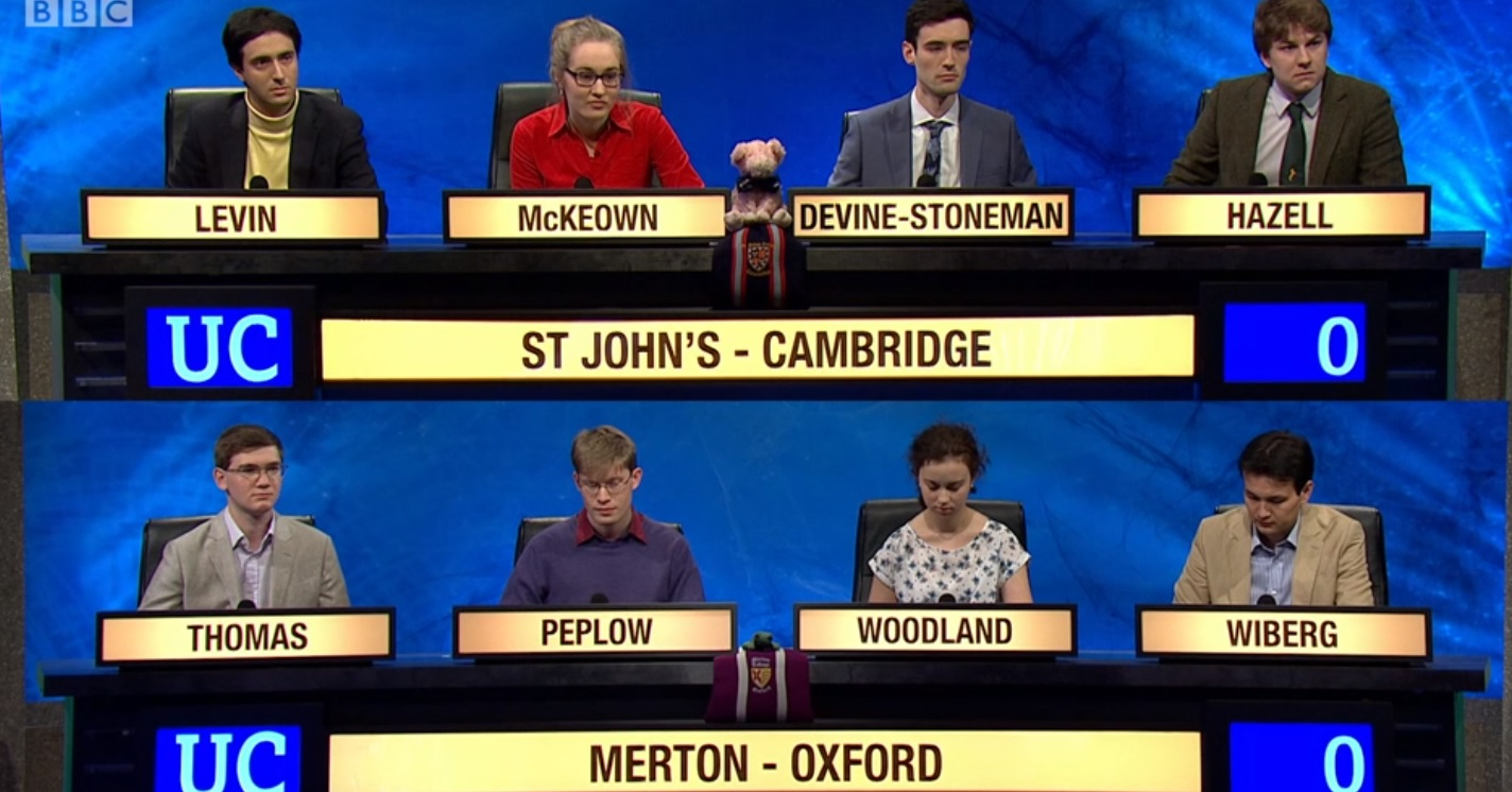 Oxford's Merton College loses in University Challenge final
