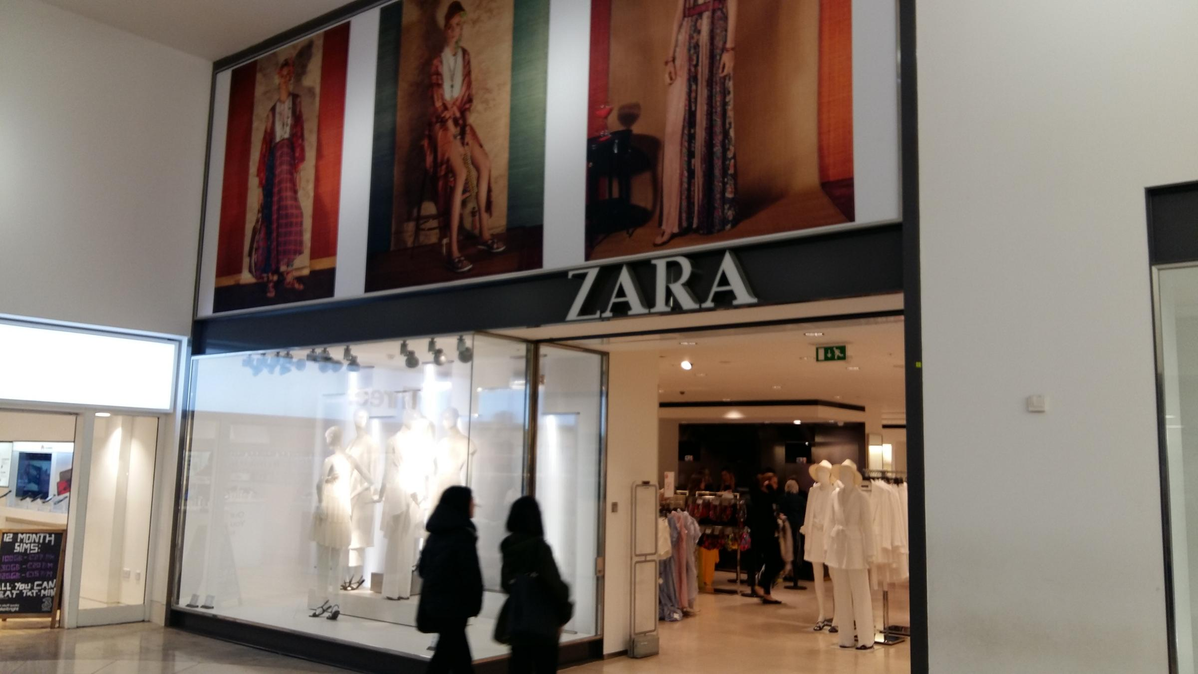 Zara in the Clarendon Centre. The store will move to the Westgate Centre. Pic Andy Ffrench
