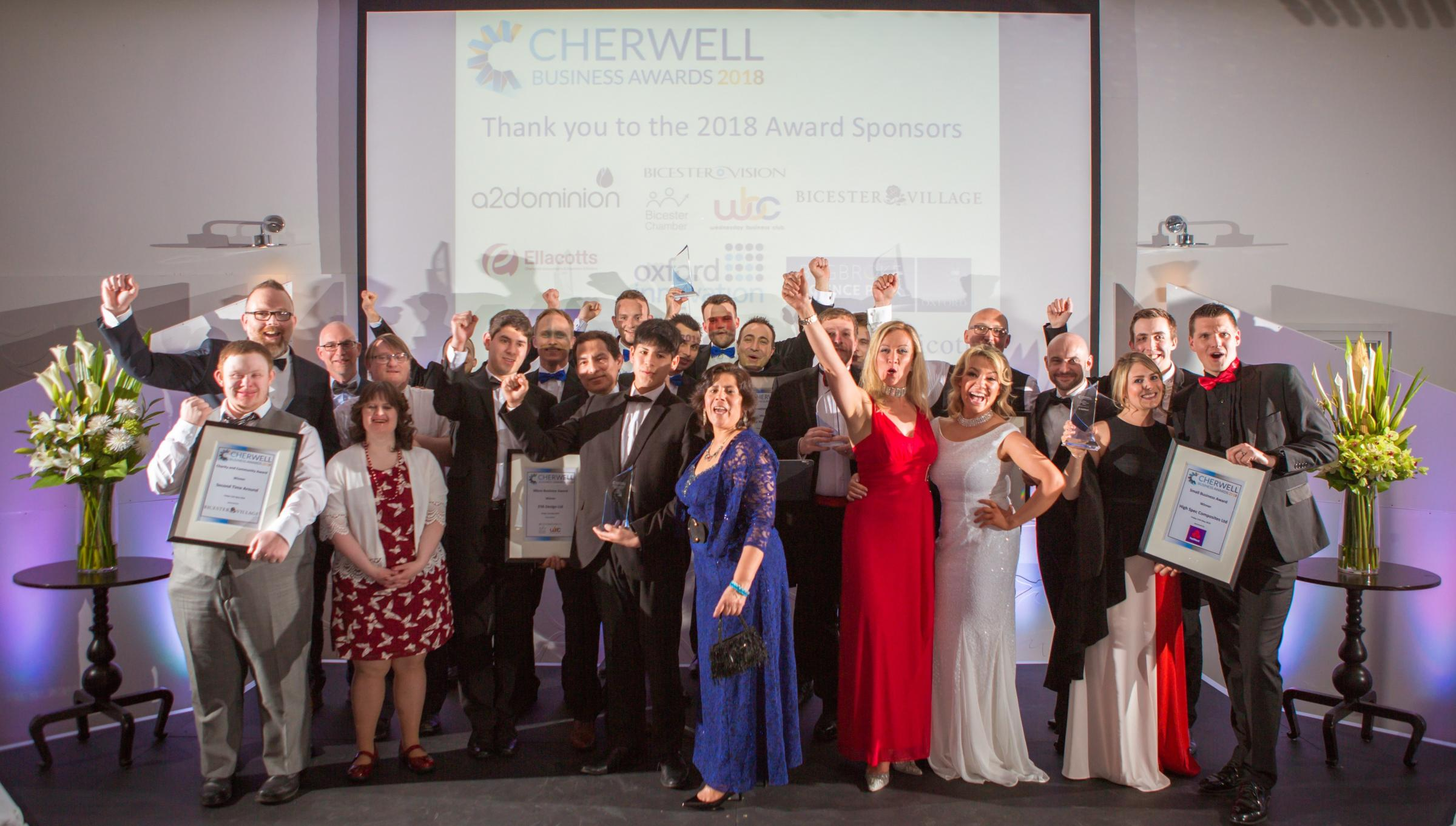 Winners of the 2018 Cherwell Business Awards. Picture by Becky Moyce