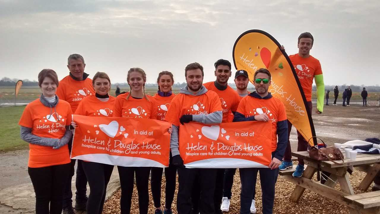 TEAM: Hospice supporters with Taylor Wimpey Oxfordshire staff at the skydive