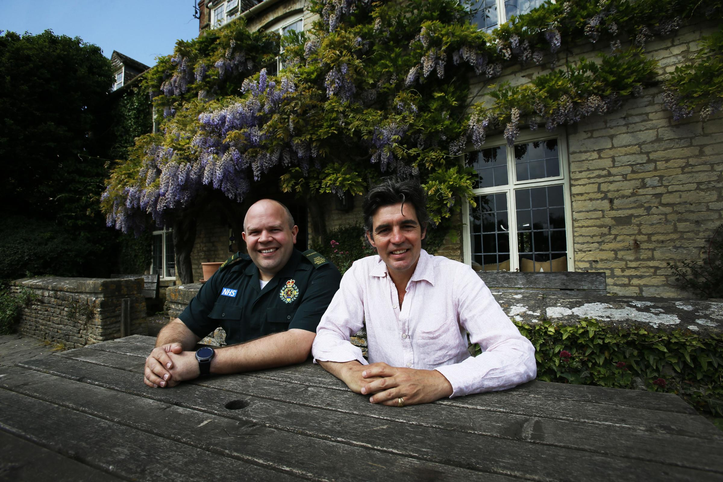 Lifesaving landlord Archie Orr-Ewing (right) saved a womanÕs life earlier this month when he stopped her from choking and performed first aid on her after she went into cardiac arrest in his pub. 