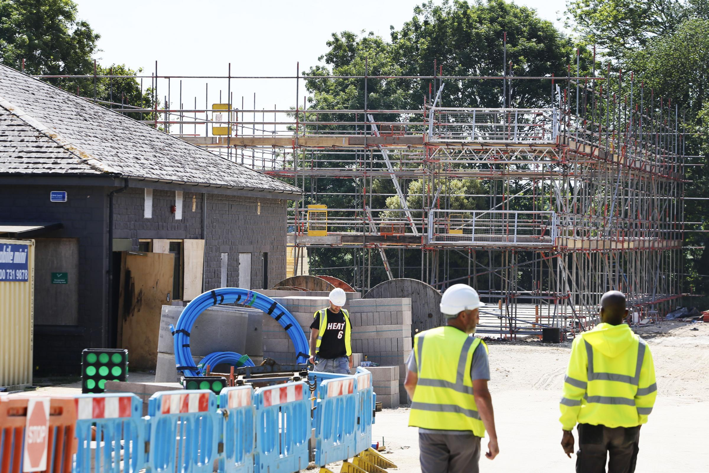 EXCLUSIVE: Work begins in earnest on the new Soho House motel at Buckland service station near Faringdon. Picture: Ed Nix