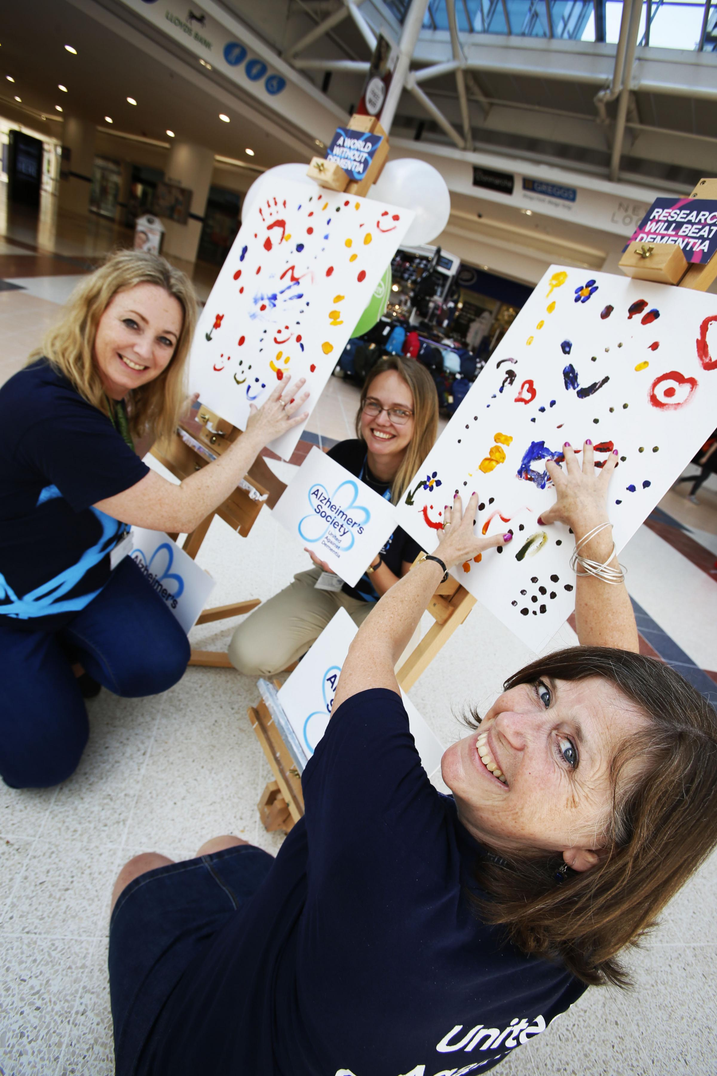 In support of Dementia Action Week the Alzheimer's Society set up a canvas in Templar Square Shopping Centre for people to add their thumb prints in support of those affected by dementia.