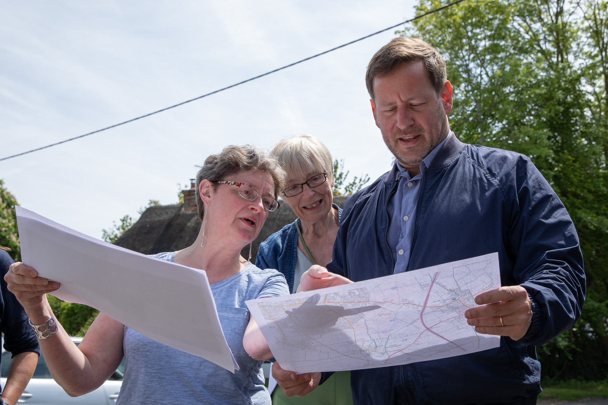 CONCERNED: (L-R) Campaigners Tracey Anderson and Sue Totterdell with MP Ed Vaizey Picture: Hugh Lewis