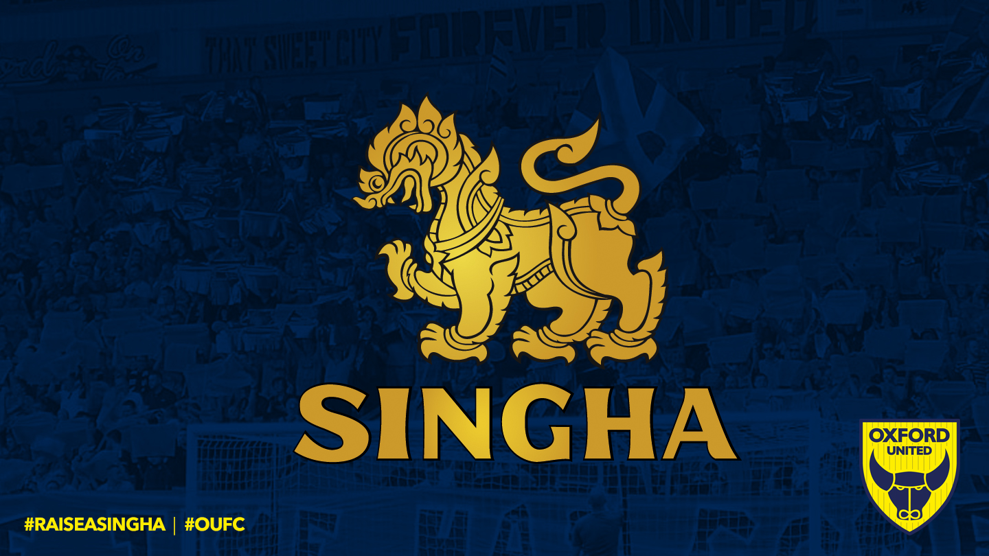 Singha Beer's deal with Oxford United is for at least two years