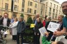 Protesters in Oxford on Saturday (pic: Emma Turnbull)