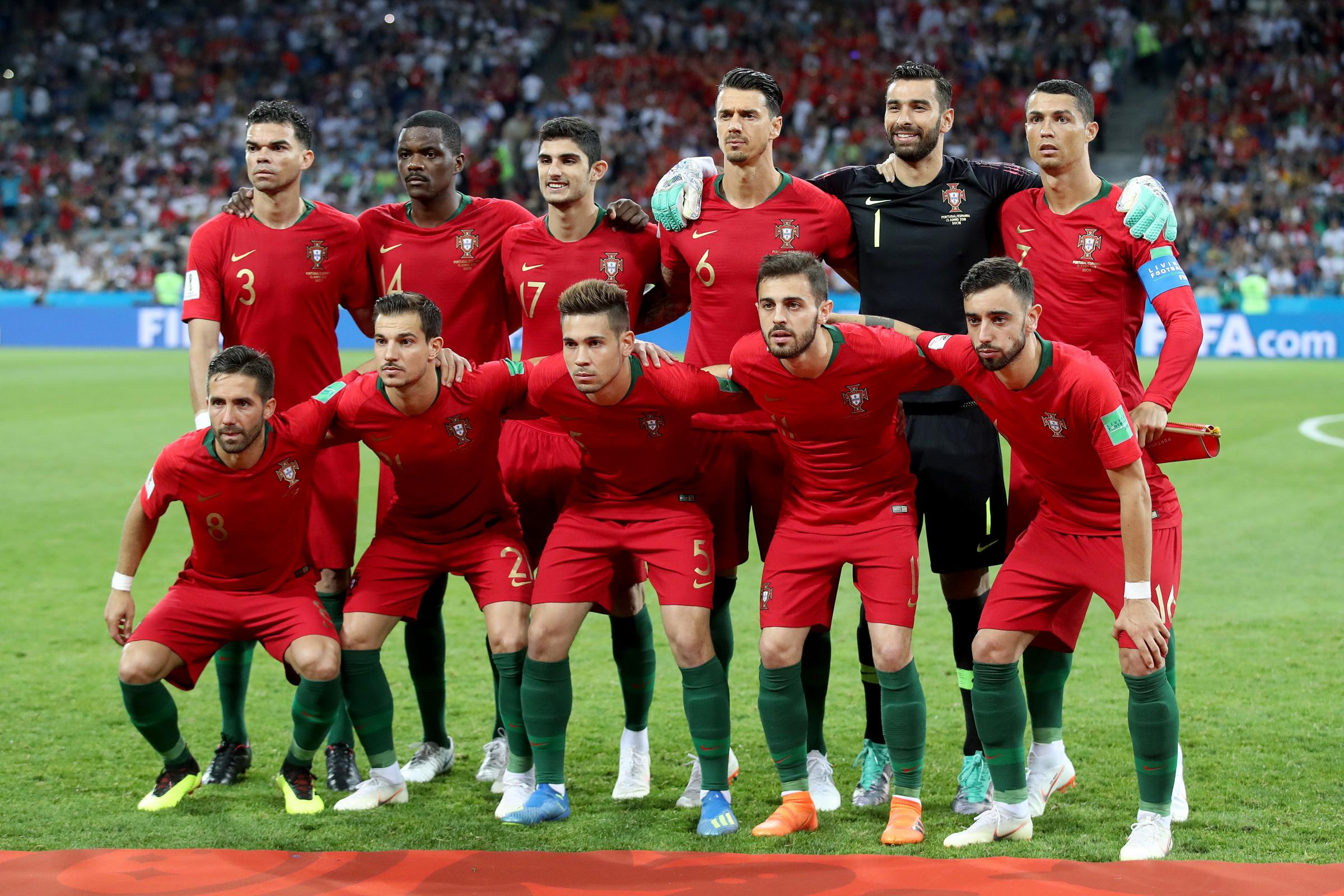 Cristiano Ronaldo, back right, and Portugal will be seeking a first World Cup 2018 win against Morocco on Wednesday