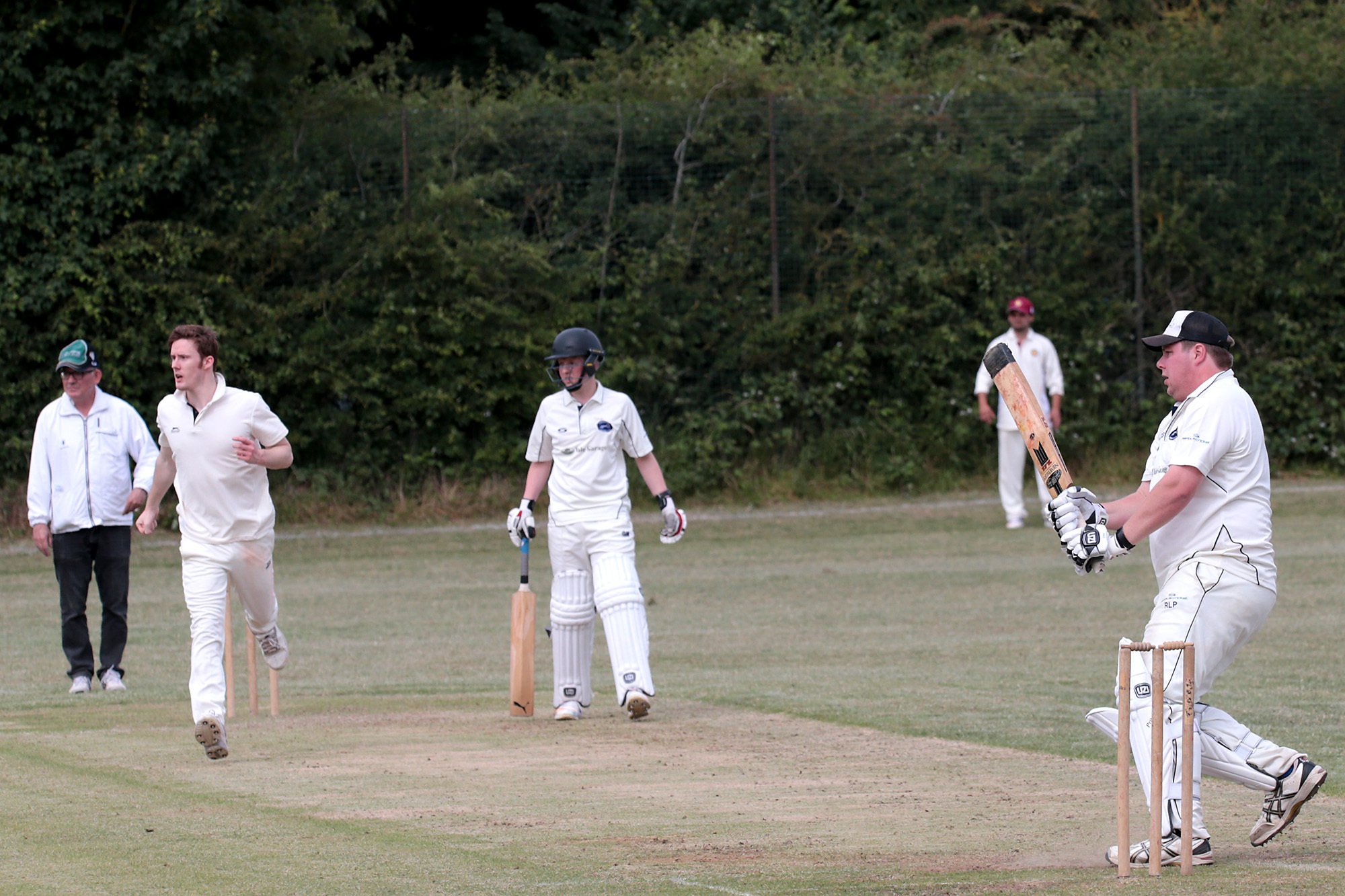 Ranulph Leigh-Pemberton is caught at mid wicket as he tries to pile on the runs at the end of the Uffington innings during their OCA match at Ducklington on Saturday Picture: Ric Mellis