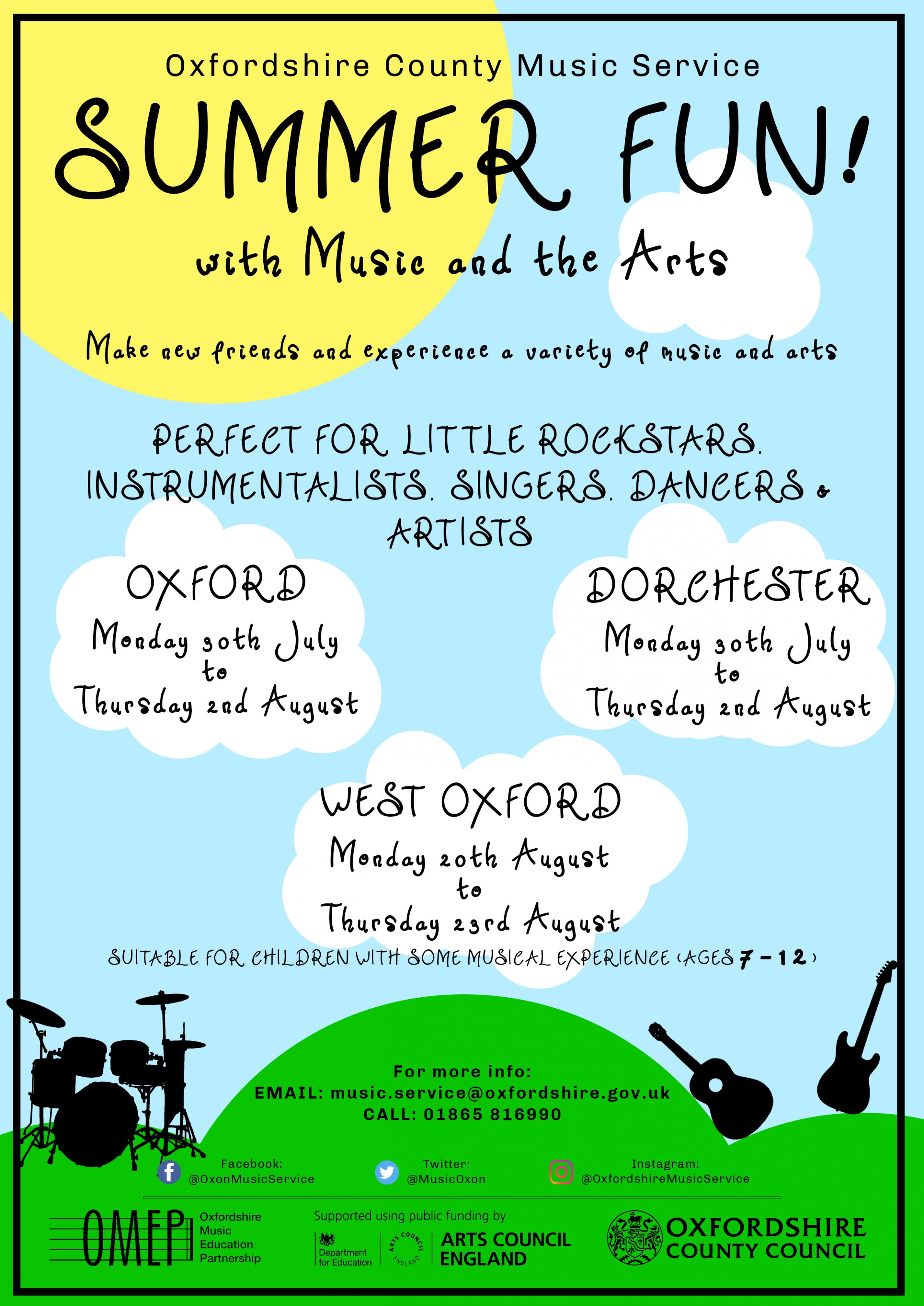 Summer Fun in West Oxford with Music & the Arts