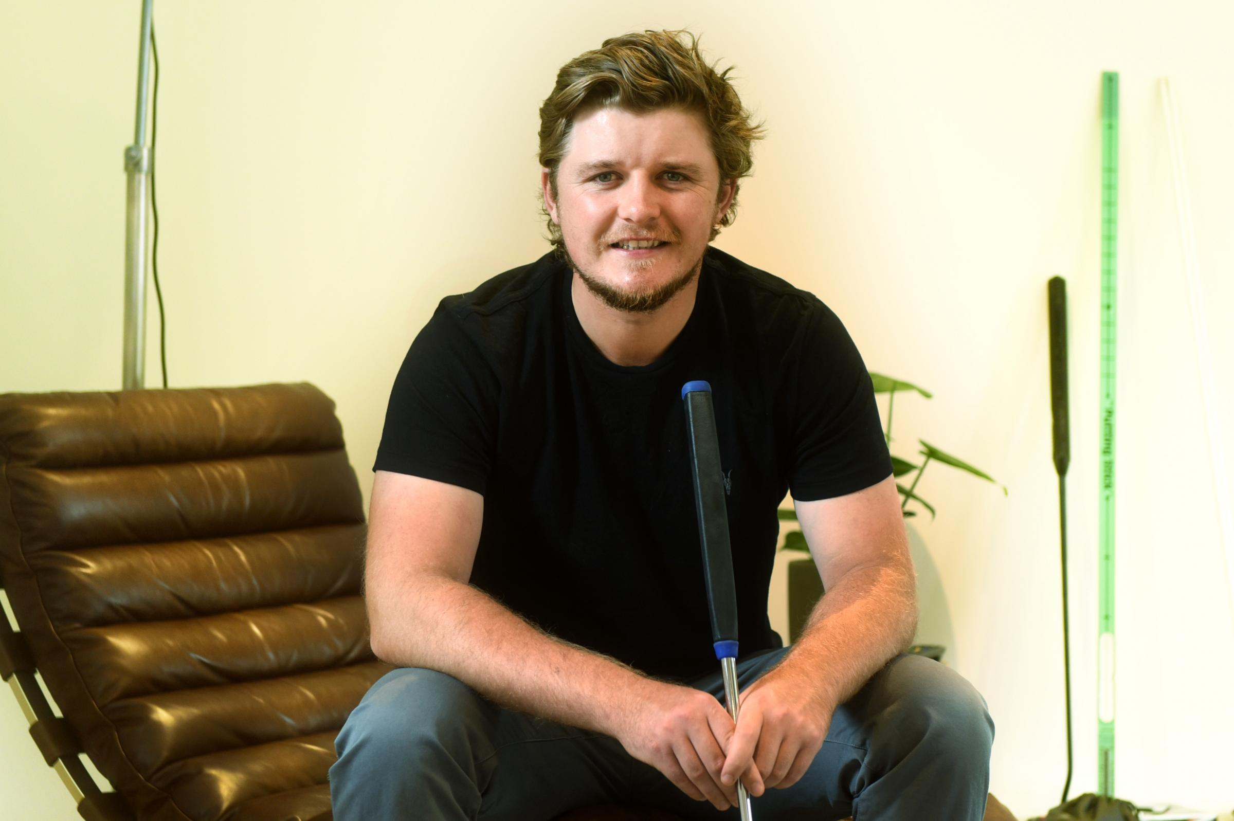 SITTING IT OUT: Eddie Pepperell withdrew from French Open to rest wrist injury Picture Richard Cave