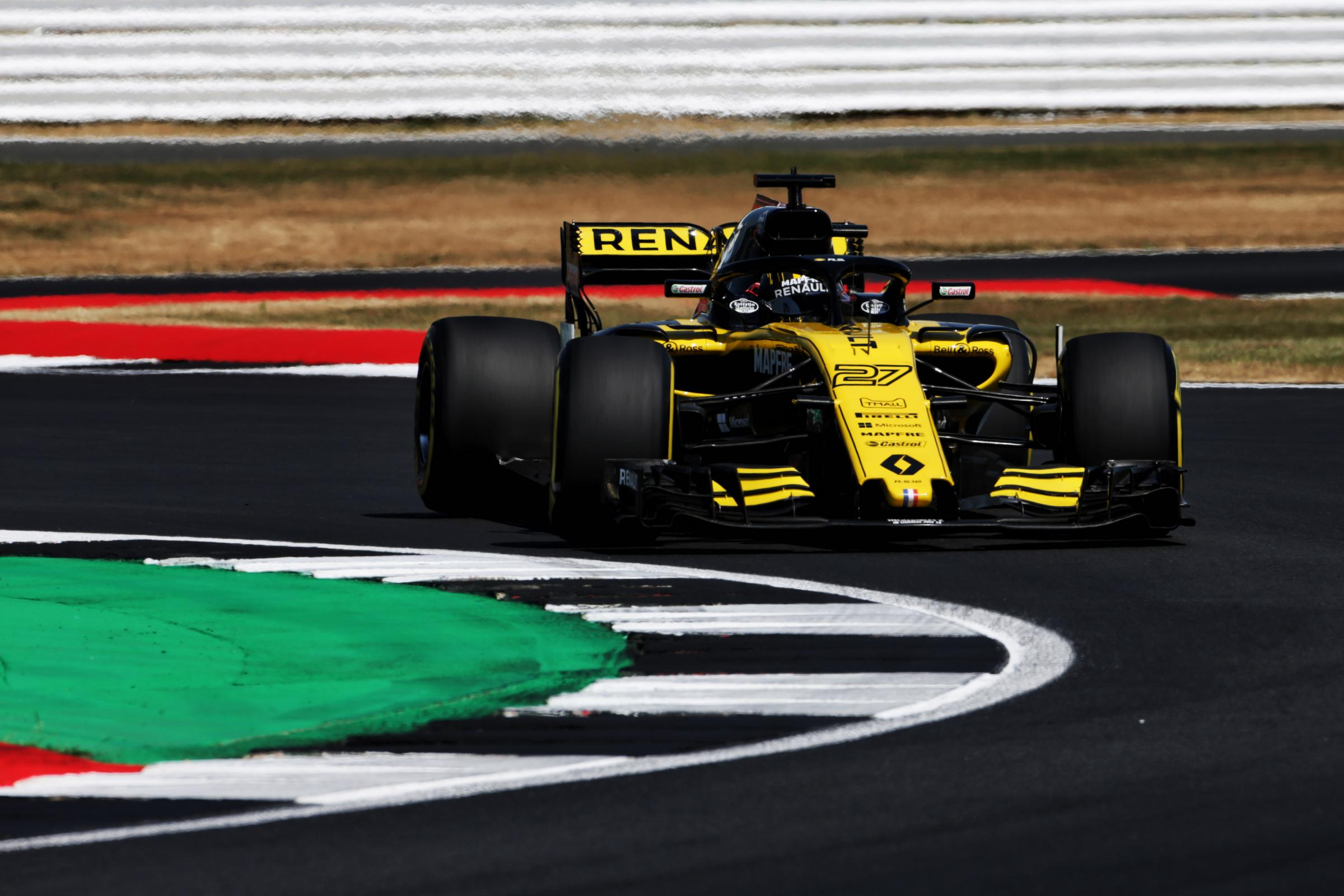 Nico Hulkenberg, pictured during practice for the British Grand Prix, finished sixth at Silverstone Picture: XPB/James Moy Photography Ltd