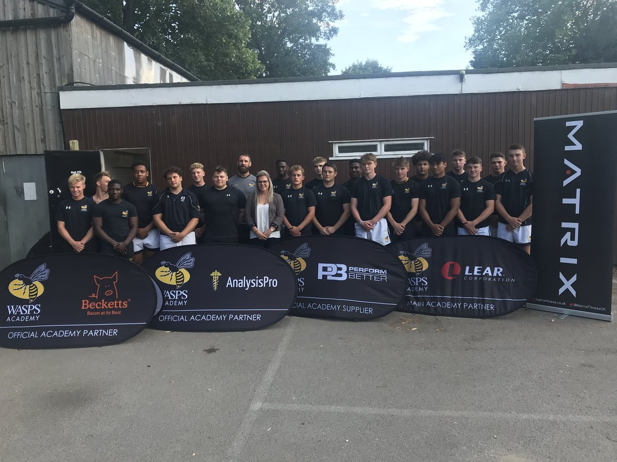 NEW HOME: The Wasps Southern Academy line up at Henley where they will train and play Picture: Henley RFC