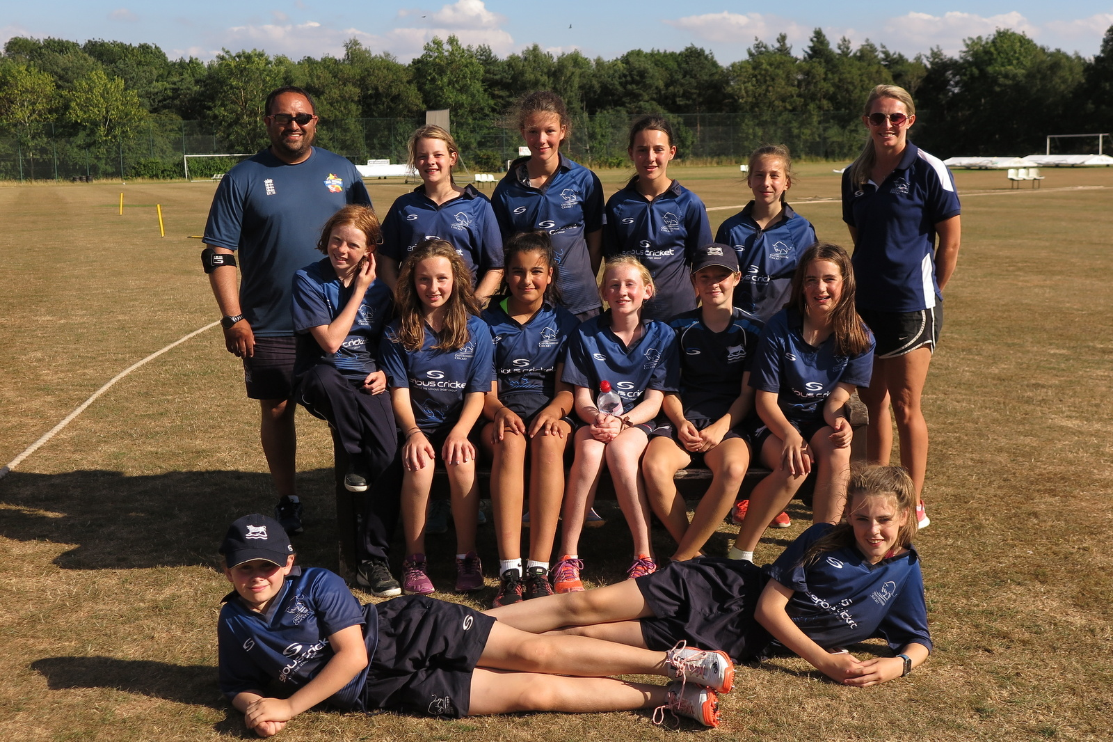 LINING UP: Oxfordshire Girls' team Under 13, who lost narrowly to Warwickshire at Kenilworth