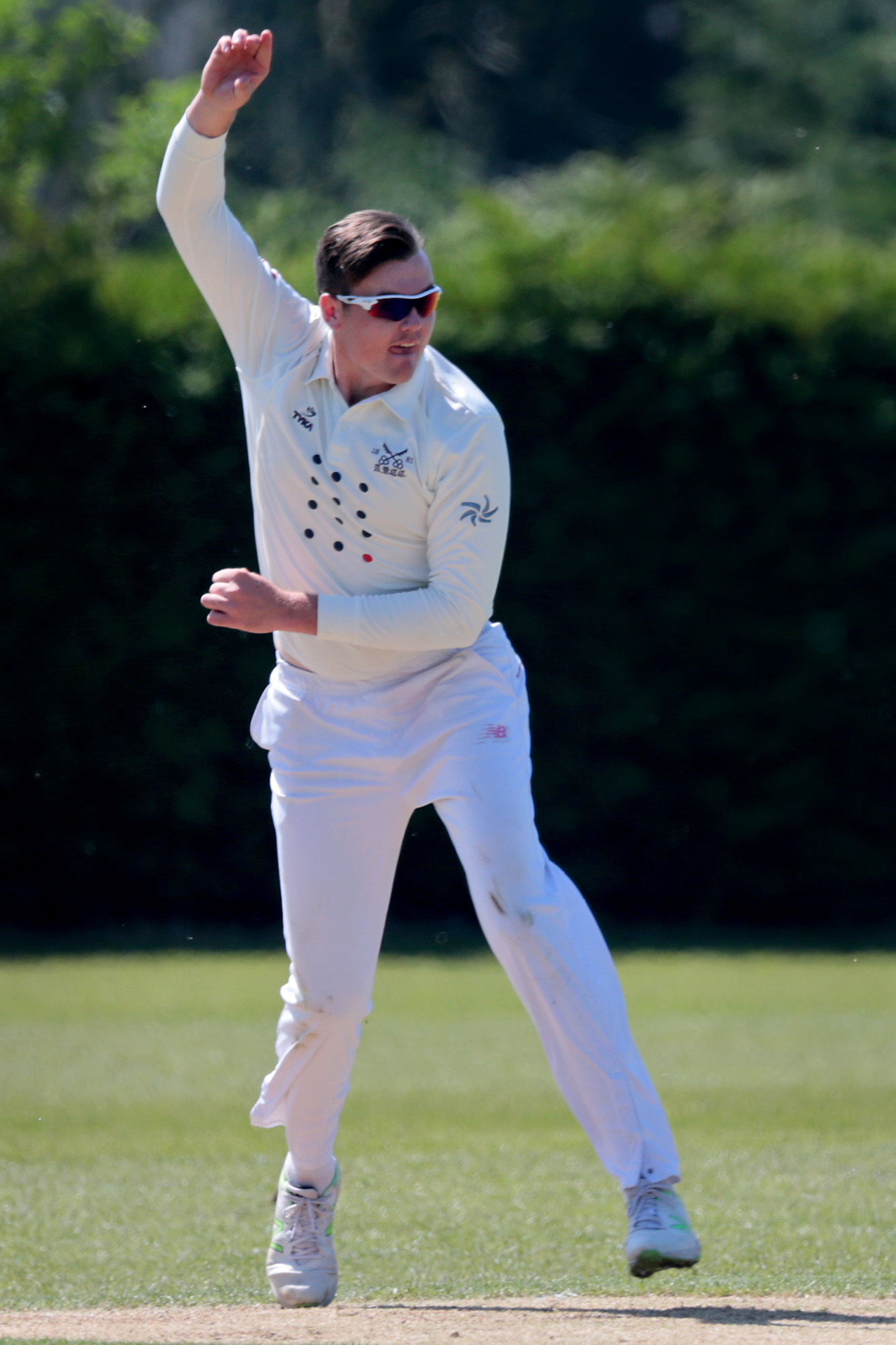 FINE DISPLAY: Dan Moriarty took 4-29 and scored 30 in Aston Rowant's victory over Banbury
