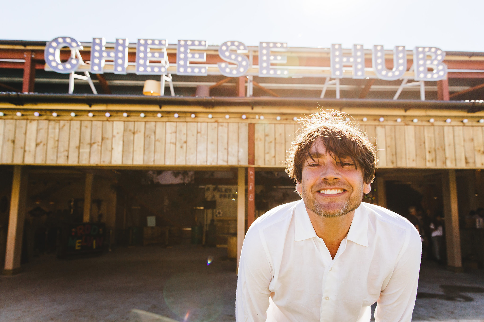 Fromage fun: Alex James gets his Cheese Hub venue ready for fun and music at The Big Feastival on his Kingham farm