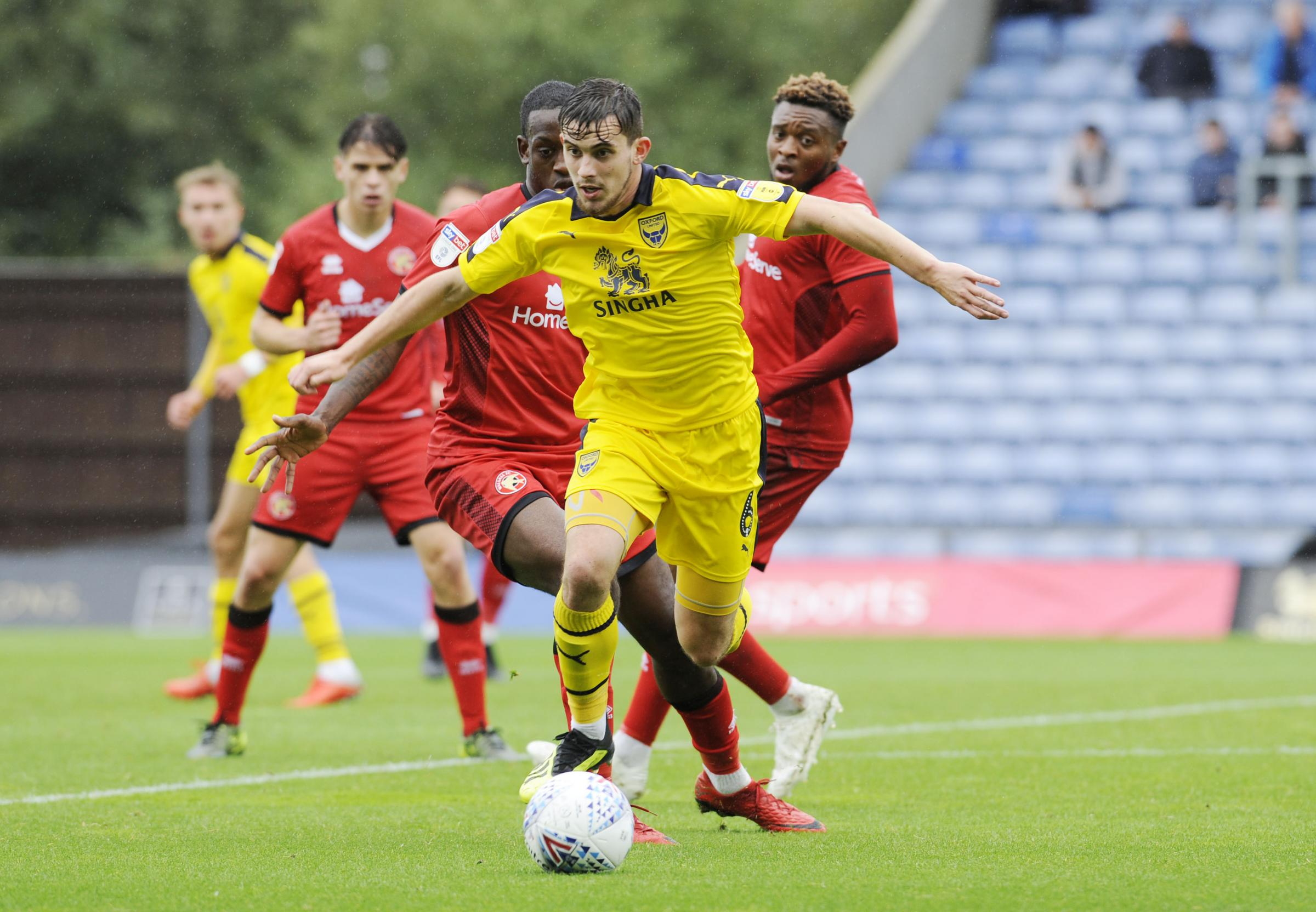 Jamie Hanson returned to the Oxford United starting line-up after suspension  Picture: David Fleming