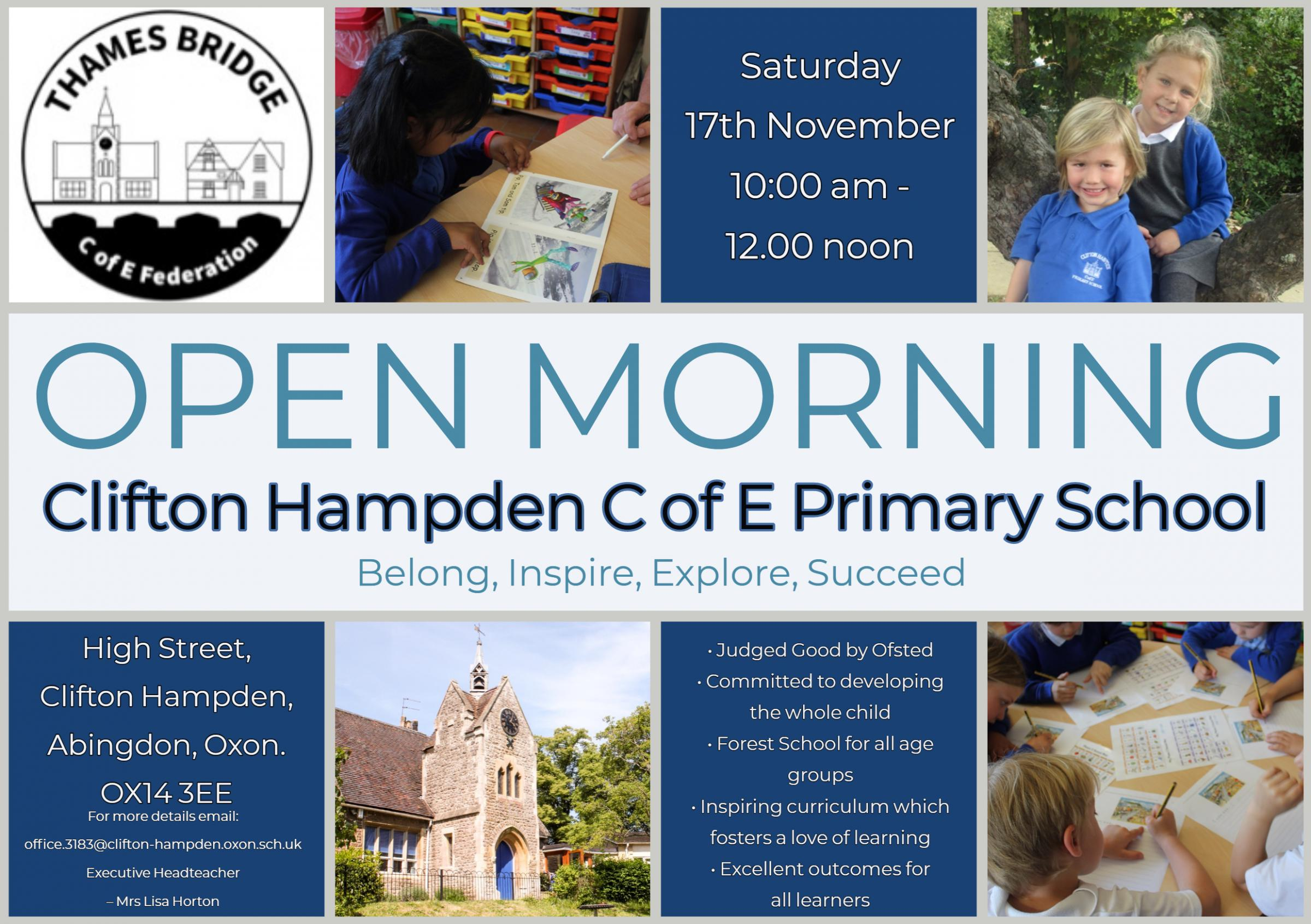 Clifton Hampden  C of E Primary School Open Morning