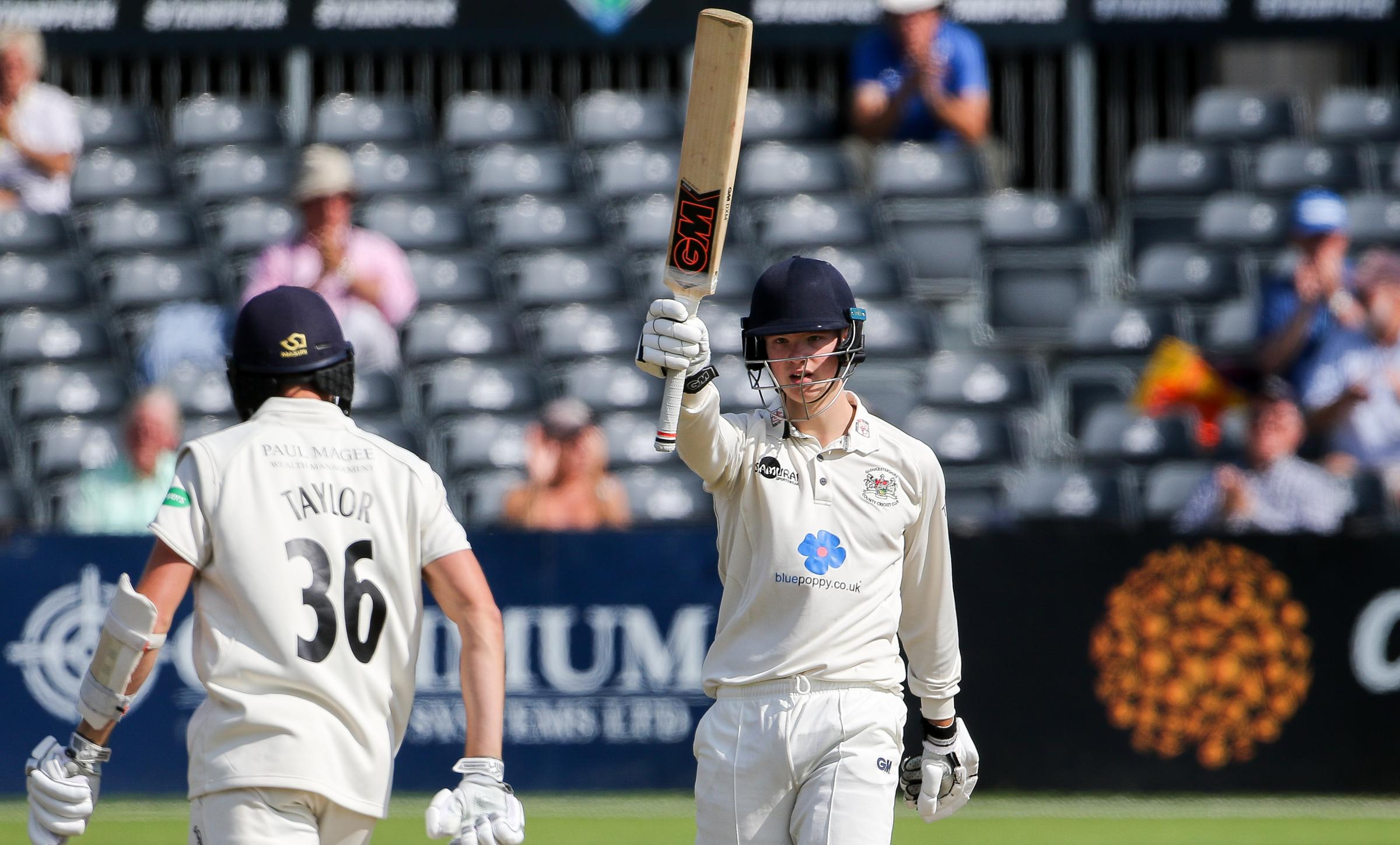 HALF-CENTURY: Ben Charlesworth against Middlesex last season Picture: Martin Bennett