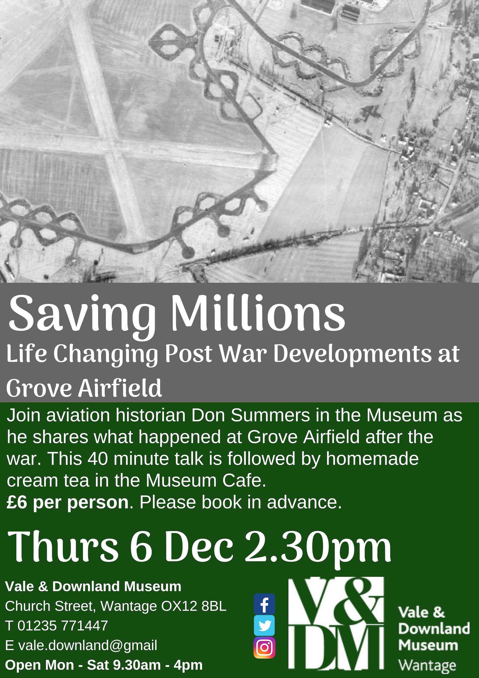 Saving Millions: Life Changing Post War Development at Grove Airfield