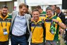 The Duke of Sussex attends a cycling event at the 2018 Invictus Games