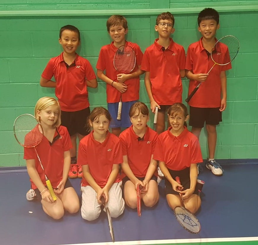 Oxfordshire's Under 12s. Back row (from left): Siwan Fang, Ethan Soanes, Jamie Wakefield, Ryan Tao. Front: Phoebe Wing, Jess Hall, Megan Tristram and Maya Cawte