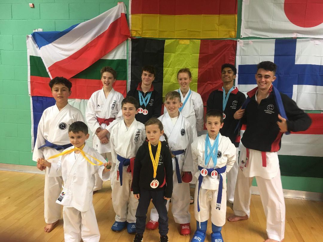 Oxford's juniors at the Seiwakai Open International in London