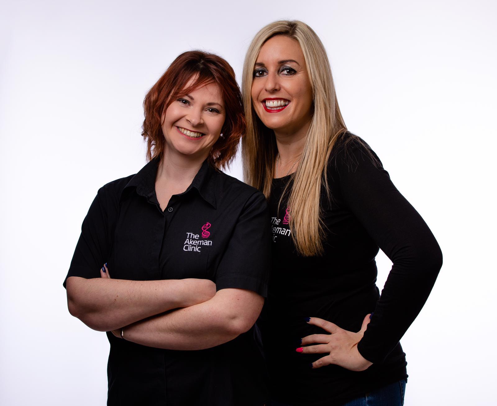 Katy Ottaway and Kelly Petts of the Akeman Clinic. Pic Akeman Clinic