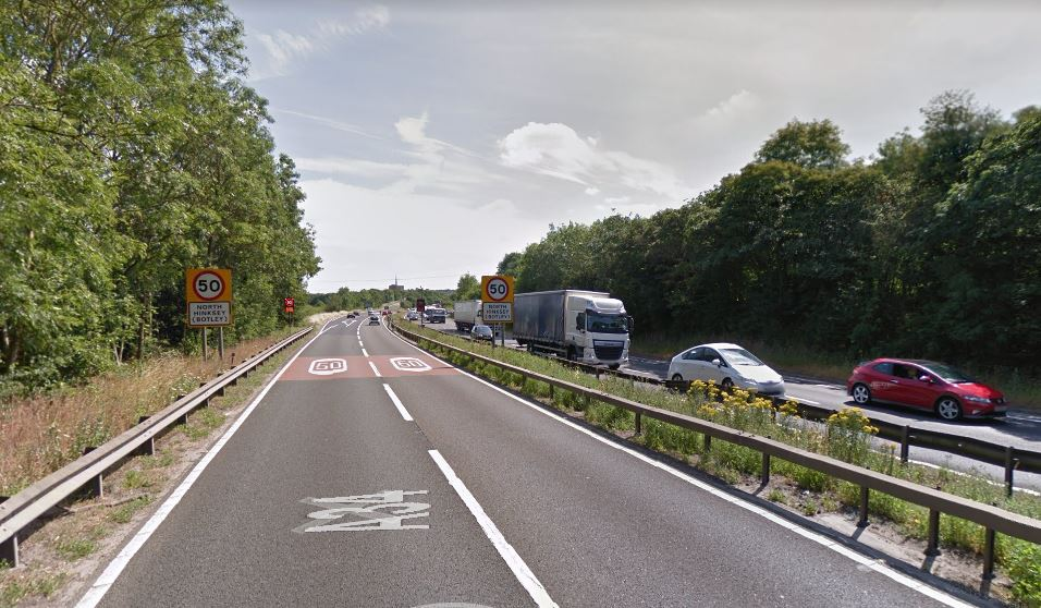 A34 southbound at Botley Interchange. Picture: Google Maps