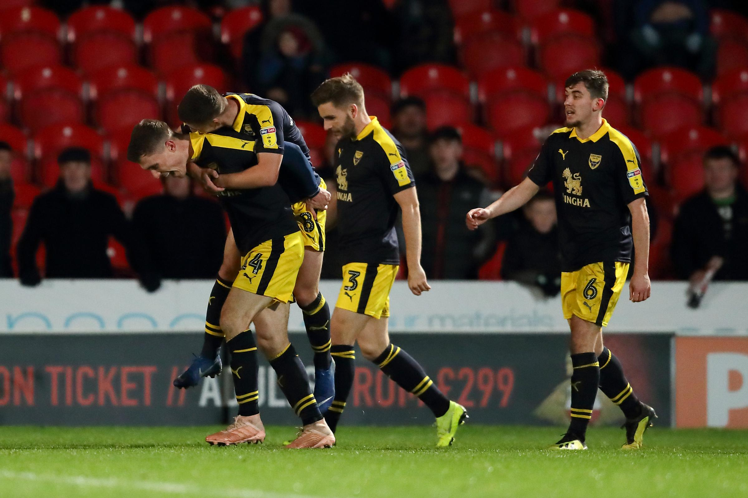 Josh Ruffels scored Oxford United's last goal, against Doncaster Rovers on December 22  Picture: James Williamson