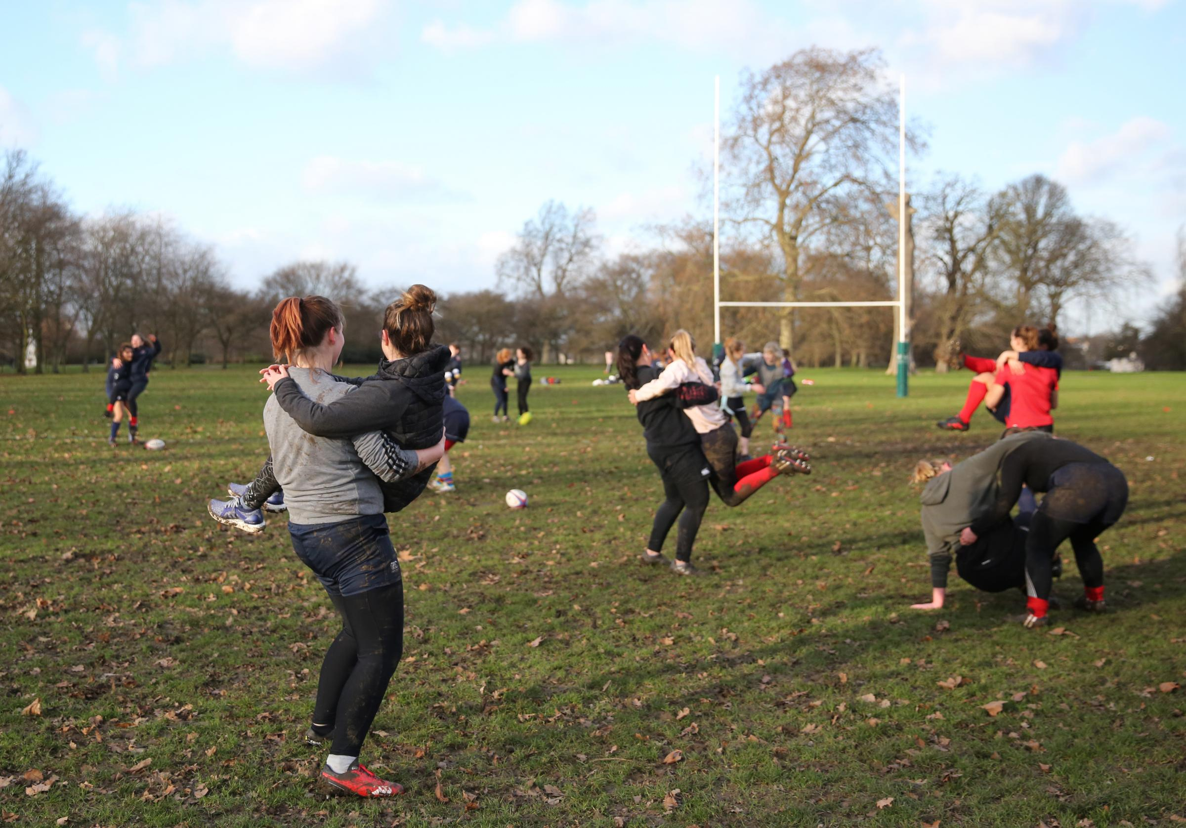 Oxford Rugby Club's Warrior session is one of a number around the picture. Picture: England Rugby