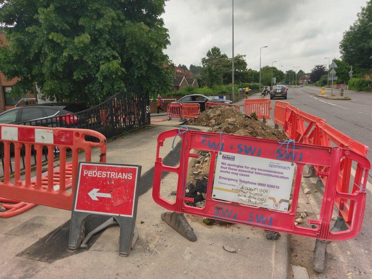 Roadworks on Botley Road last year