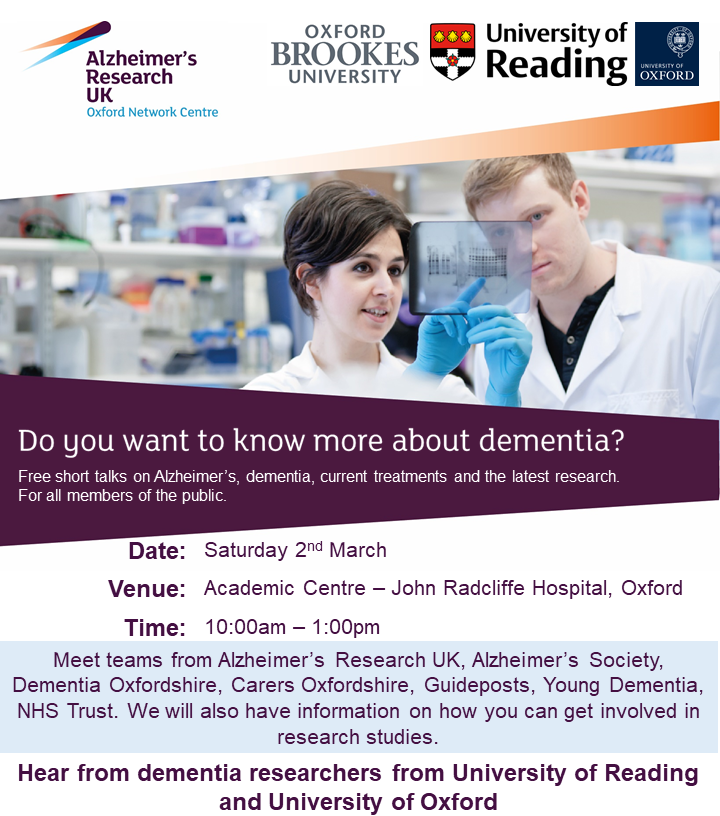 Alzheimer's Research UK Dementia Information Morning