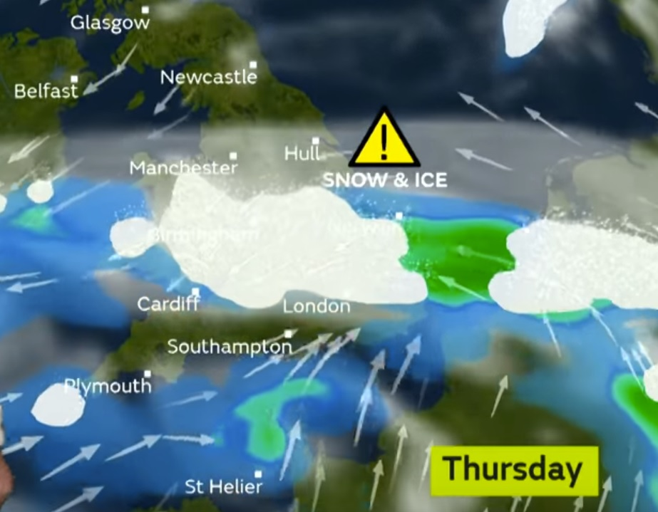 Met Office downgrades snow warning - but more is on the way - pic. Met Office