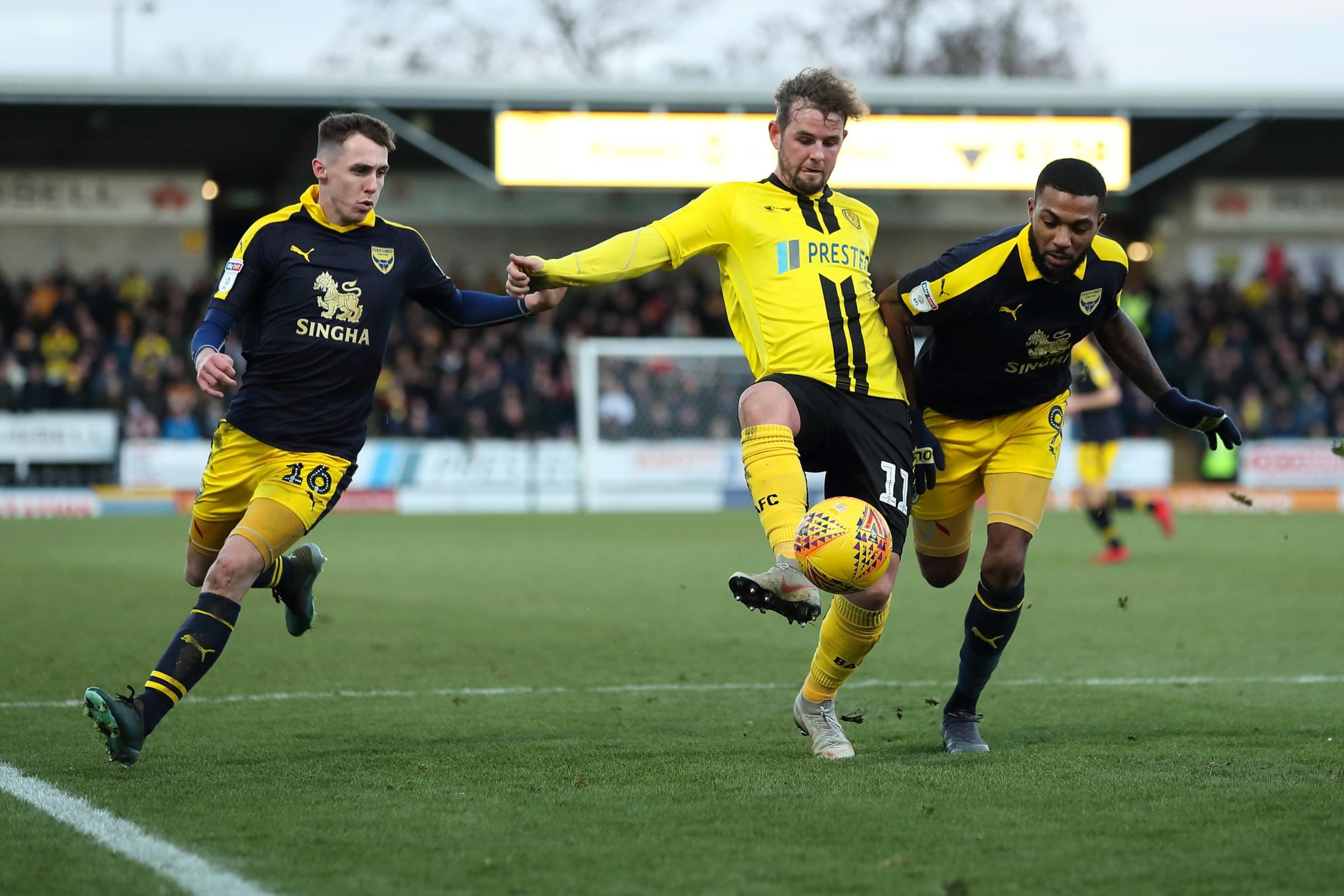 Gavin Whyte (left) and Jerome Sinclair (right) put the pressure on during their goalless draw at Burton Albion last month        Picture: James Williamson
