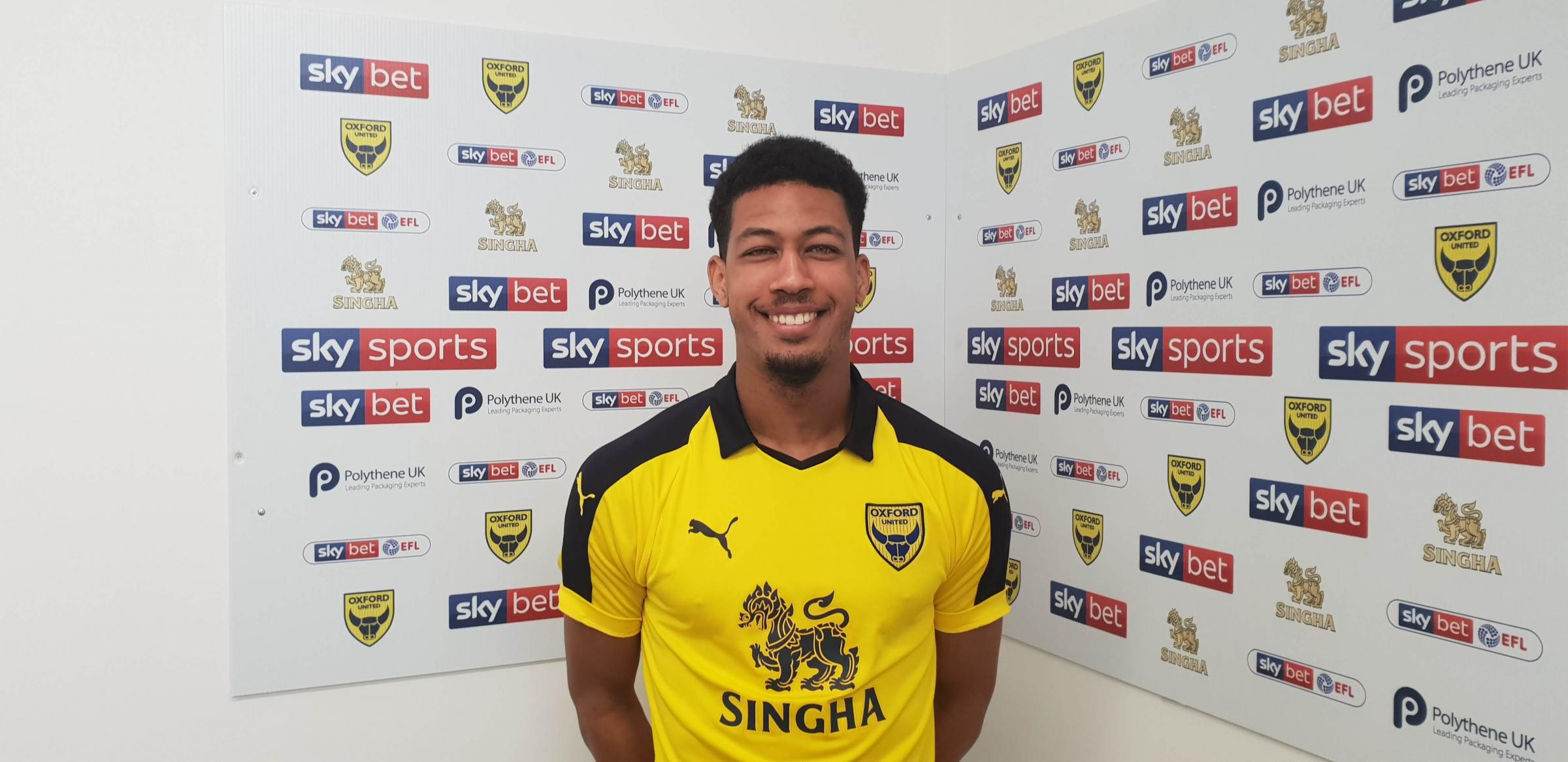 Jonte Smith after signing for Oxford United