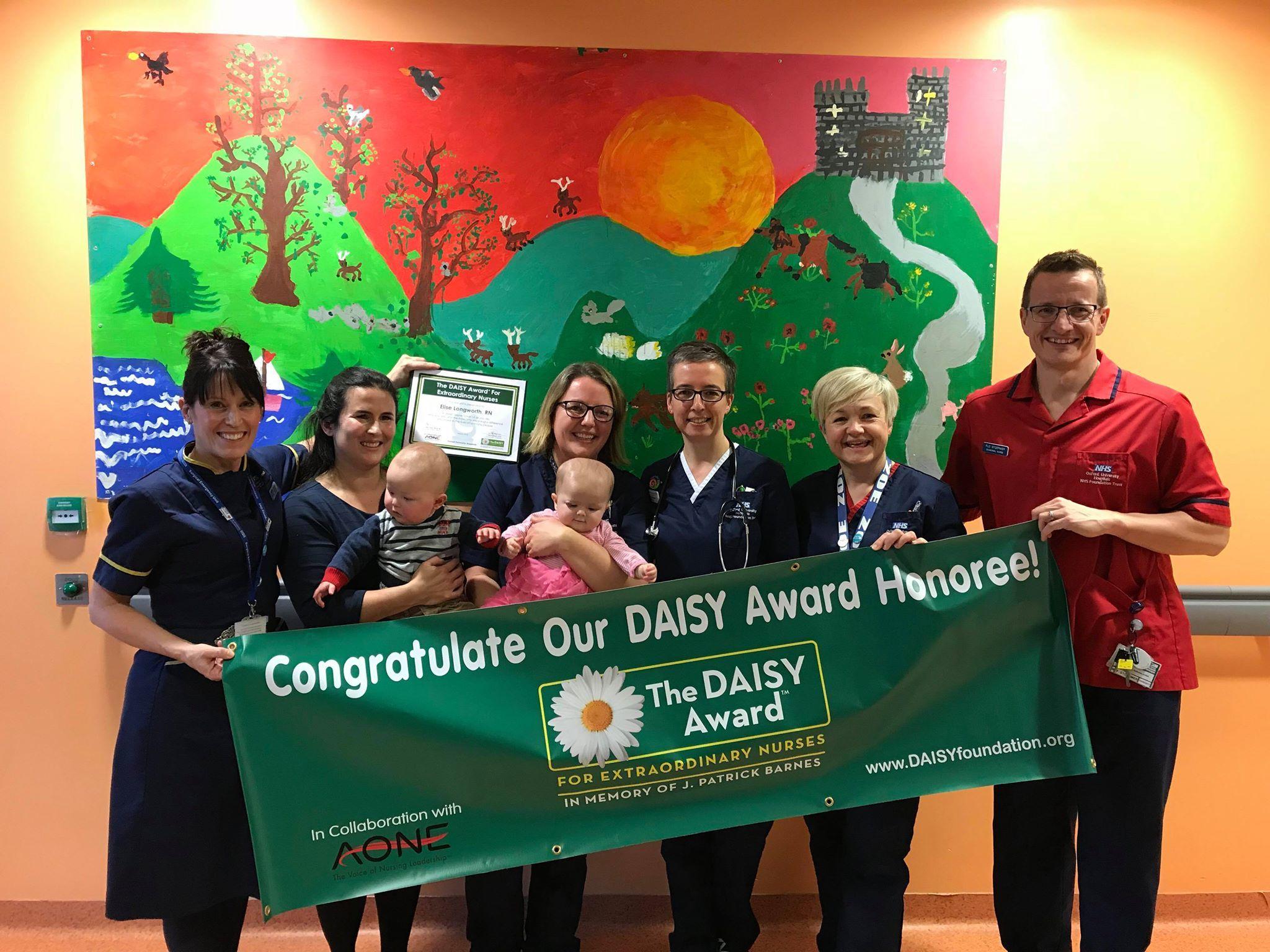 Oxford University Hospitals nurses honoured with DAISY award | The
