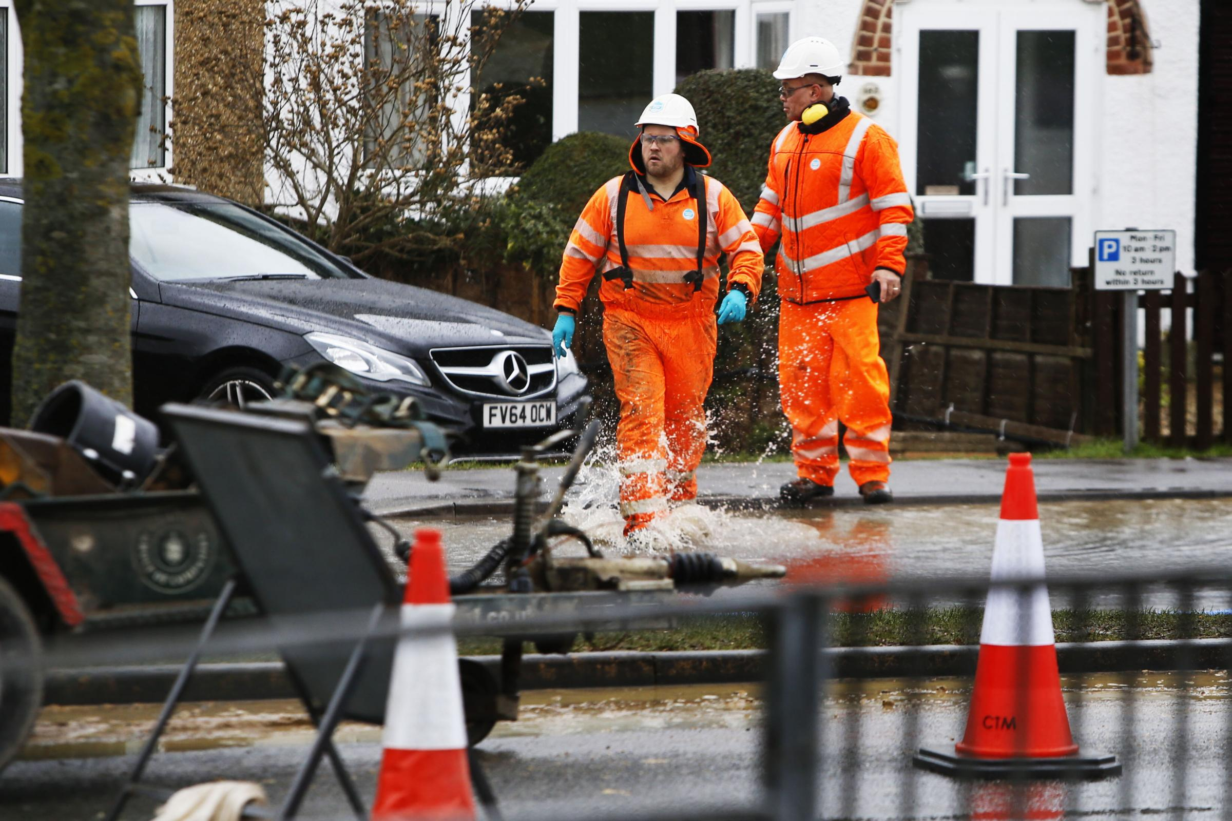 Primary school shut due to burst water main. Picture: Ed Nix