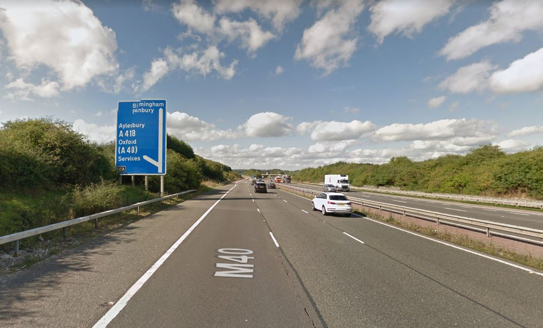 Another 'elderly' driver spotted going the wrong way on M40