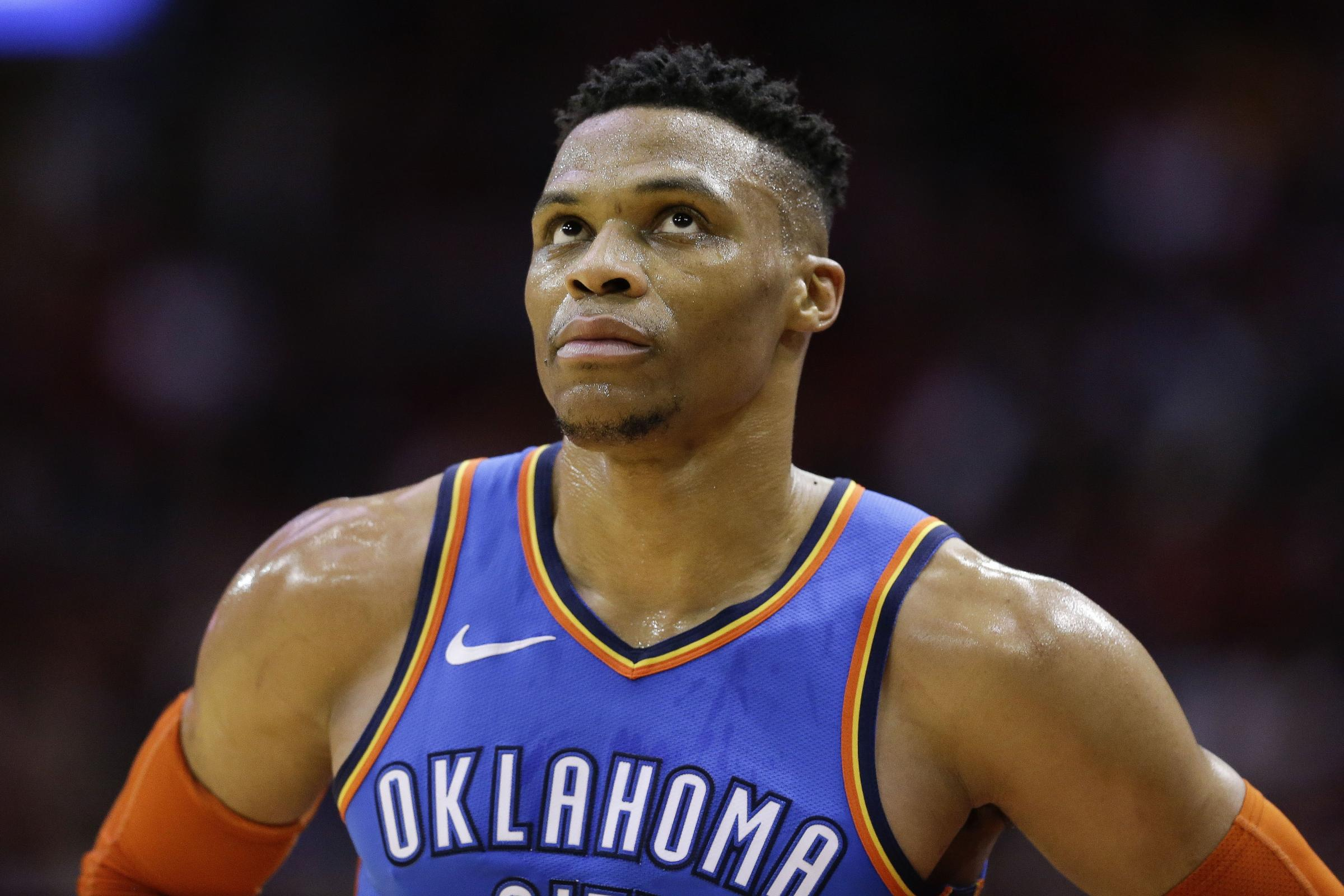 Oklahoma City Thunder guard Russell Westbrook set a new NBA record