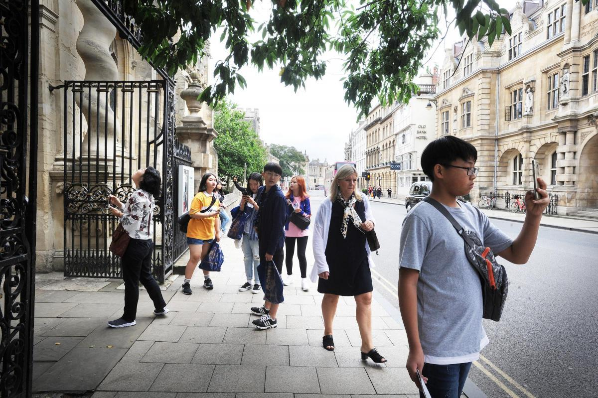 Tourists in Oxford