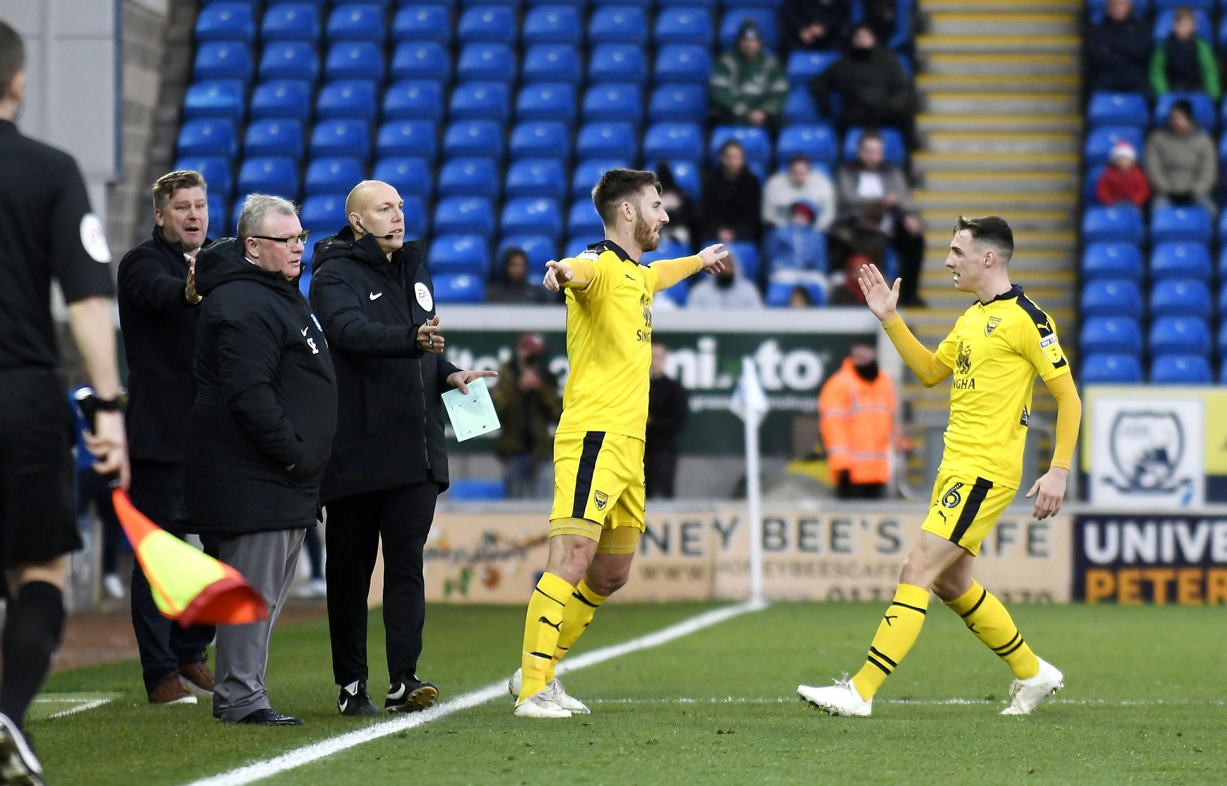 James Henry celebrates the first of his two goals for Oxford United against Peterborough United in December  Picture: David Fleming