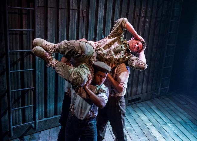 Frantic Assembly bring their trademark physicality to The Unreturning at Oxford Playhouse                                   Picture: Tristram Kenton