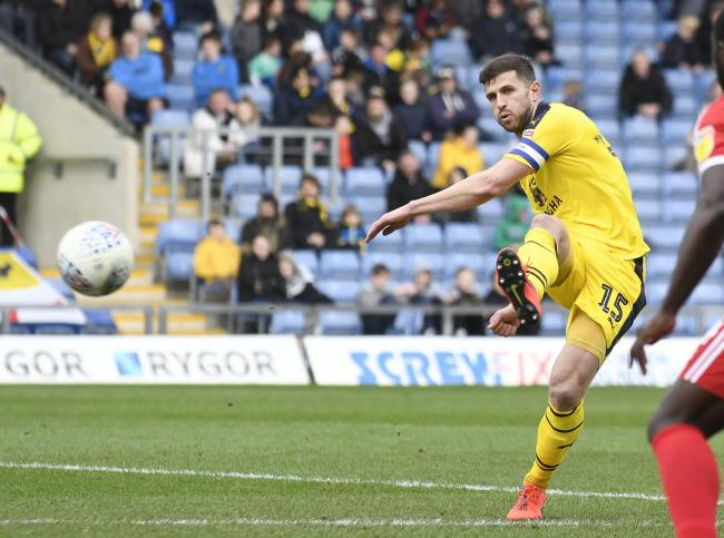 Oxford United captain John Mousinho is hoping his teammates can throw off the shackles today Picture: David Fleming