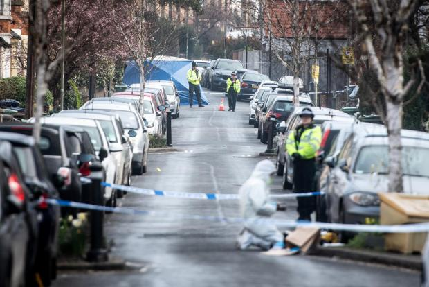 The scene on Southfield Road the day after the stabbing